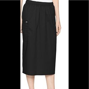 WonderWink Women's Cargo Scrub Skirt 5XL Black